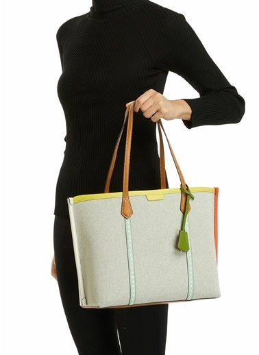 Tory Burch Tory Burch Colorblocked Kadın Alışveriş Çantası 101624100 Renkli